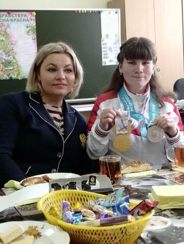Встреча с Олимпийской чемпионкой