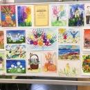 Выставка детских рисунков в Сбербанке
